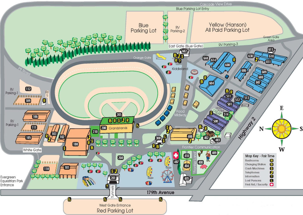 Washington State Fair Map Directions | Evergreen State Fairgrounds, WA   Official Website Washington State Fair Map