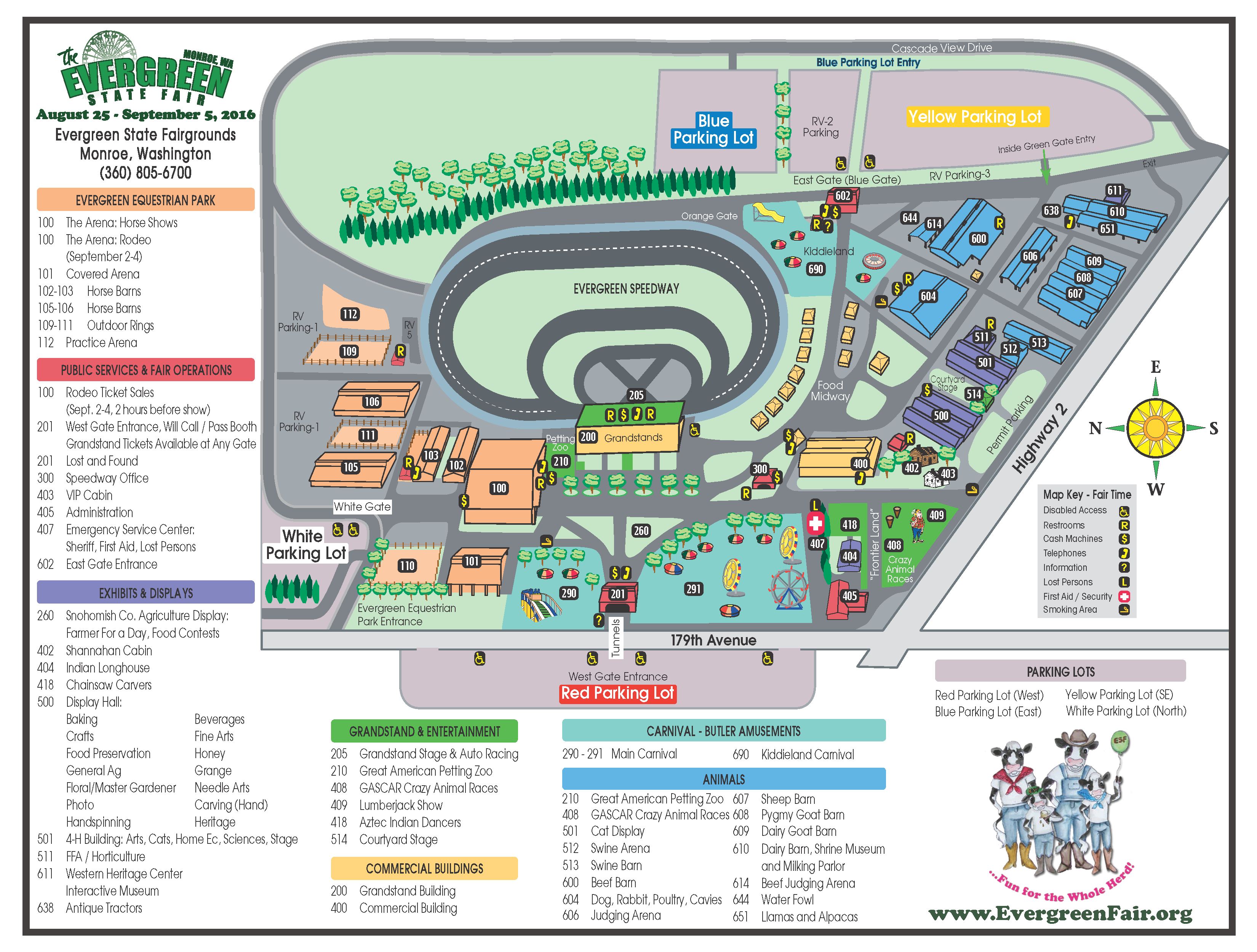 fairtime map of the fairgrounds . directions  evergreen state fairgrounds wa  official website