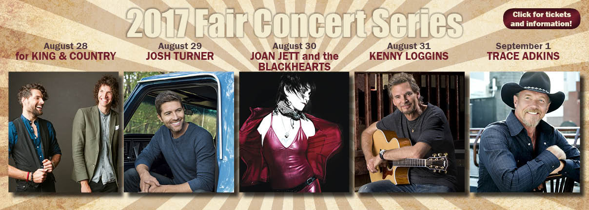 2017 Evergreen State Fair Concerts