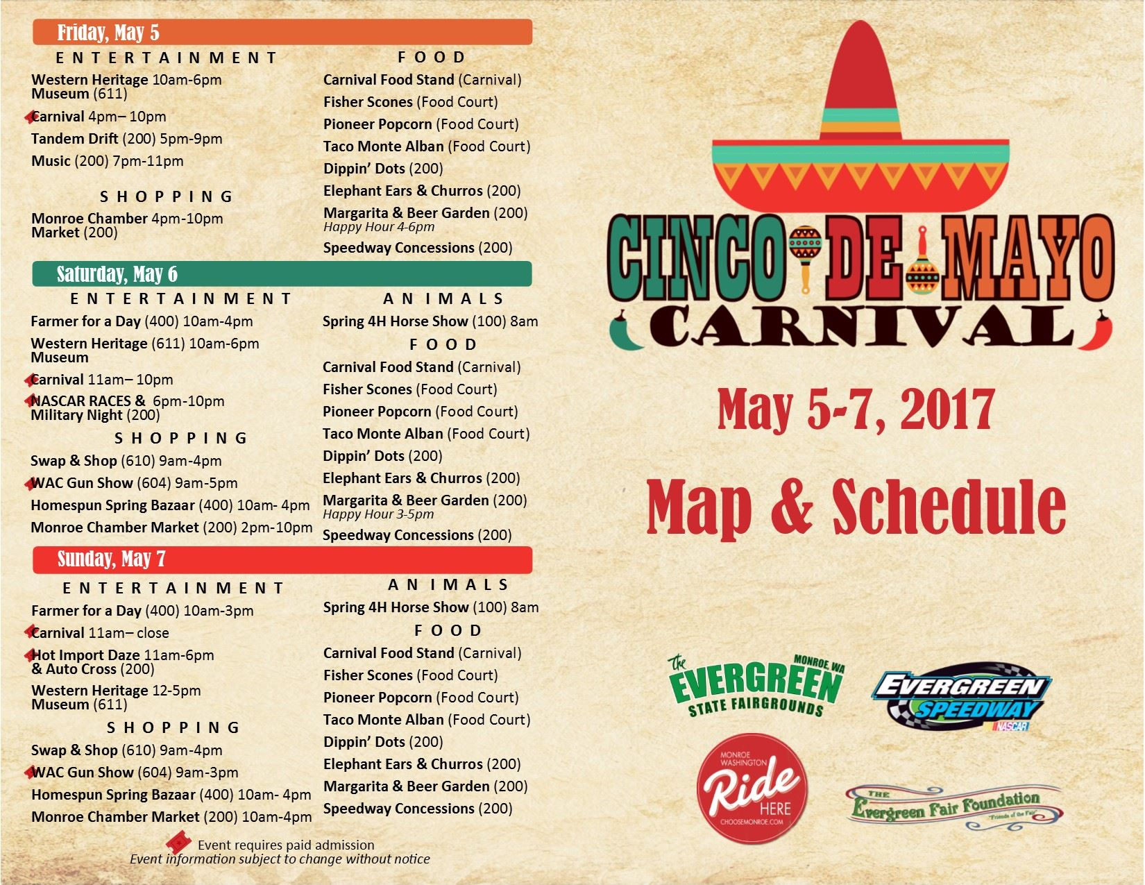 2017 spring carnival evergreen state fairgrounds wa official