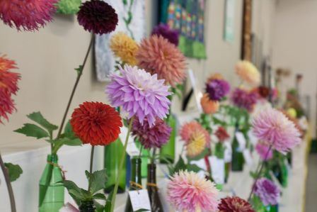 Flowers displayed at the Evergreen State Fair