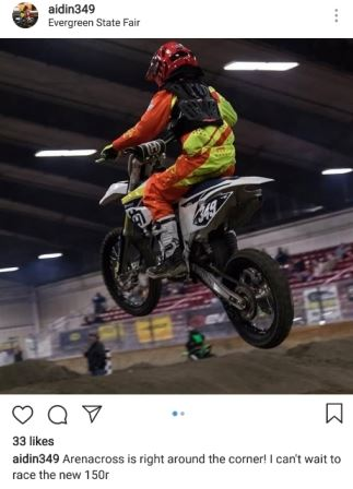 Motorcross rider going over a jump