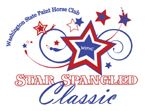 Washington State Paint Horse Club's Star Spangled Classic logo featuring stars and swirls in red,