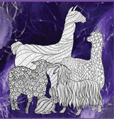 Fiber Fusion Northwest stylized picture logo of fiber producing Llama, Alpacha, Sheep, Goat and Rabb