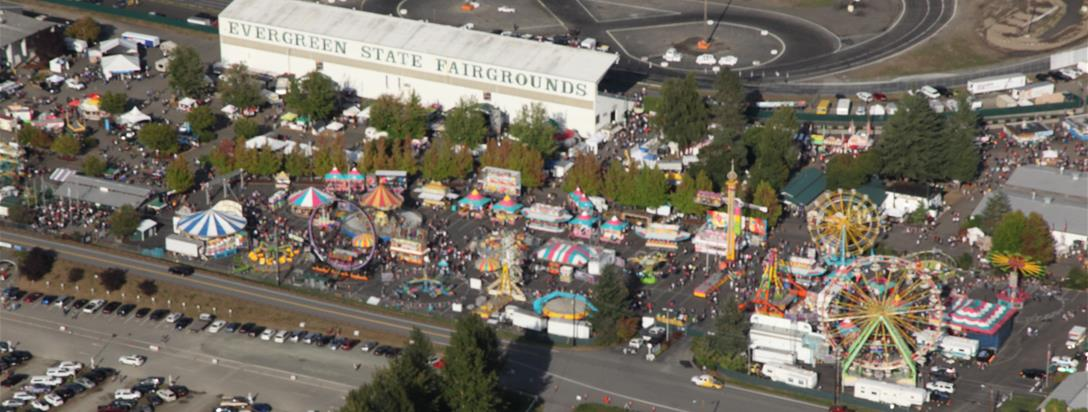 Aerial View of the Evergreen State Fair
